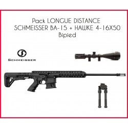 Pack LONGUE DISTANCE SCHMEISSER BA-15 + HAWKE 4-16X50 + bipied