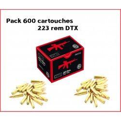 Pack 600 cartouches 223 rem GECO DTX 55 grains