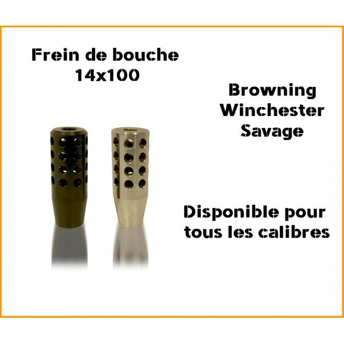 Frein de bouche M14X100 Spécial Browning et Winchester