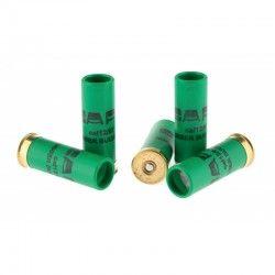 5 cartouches Gomm Cogne chevrotine, calibre 12/67