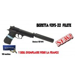 Pack pistolet Beretta 92 FS filetée calibre .22 LR
