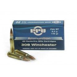 Munition PPU 308 WIN FMJ 145 grains