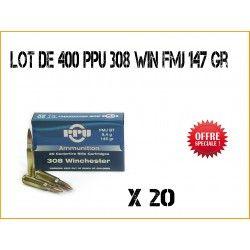 400 Munitions PPU 308 WIN FMJ 145 grains