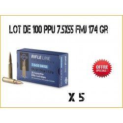 100 Munitions PARTIZAN PPU 7.5x55 11.3gr FMJ