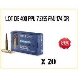 400 Munitions PARTIZAN PPU 7.5x55 11.3gr FMJ