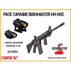 Pack Carabine BUSHMASTER M4 MOE+ VORTEX CROSSFIRE