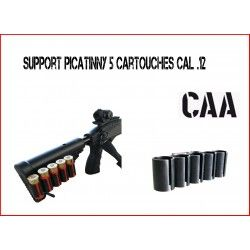 Support picatinny 5 cartouches cal .12