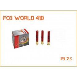 BOITE DE 25 CARTOUCHES TRAP FOB MOD WORLD - CAL 410 - BJ - 20GR - PLOMB 7,5