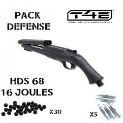 Pack fusil de défense HDS 68 + 30 billes + 5 cartouches de gaz