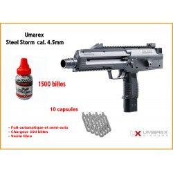 Pack pistolet Steel Storm FULL-AUTO Calibre 4.5mm (.177) - Umarex