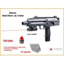 Pack laser pistolet Steel Storm FULL-AUTO Calibre 4.5mm (.177) - Umarex