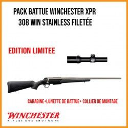 Pack BATTUE WINCHESTER XPR 308 win Stainless + lunette