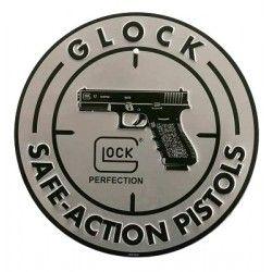 PANNEAU PUBLICITE GLOCK SAFE ACTION ALUMINIUM