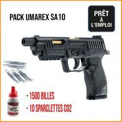 PACK PISTOLET UX SA10 BB\'S CAL. 4,5 MM