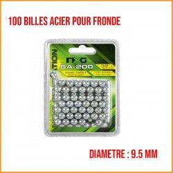 100 Billes Métal 9.5mm NXG Pour Lance Pierre