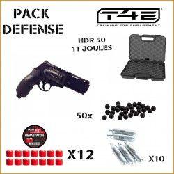 Pack Walther T4E HDR 50, 11 Joules+ 12 billes DEVASTATOR+ 50 billes + 10 CARTOUCHES+ mallette