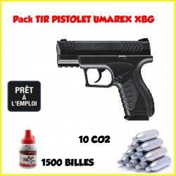 Pack Pistolet CO2 UMAREX XBG + 1500 billes + 10 CO2