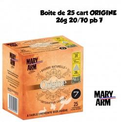 Boite de 25 cart ORIGINE 26g 20/70 pb 7