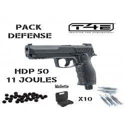 Pack pistolet balle caoutchouc Umarex T4E HDP 50 (11 joules) + malette