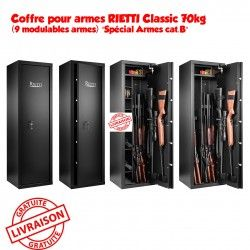 """Coffre pour armes RIETTI Classic 70kg (9 modulables armes) """"Spécial Armes cat.B"""""""