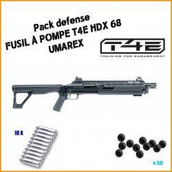 Pack DEFENSE Fusil à pompe T4E HDX 68 d'Umarex