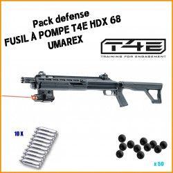 Pack TACTIQUE DEFENSE Fusil à pompe T4E HDX 68 d'Umarex
