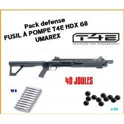Pack DEFENSE 40 JOULES Fusil à pompe T4E HDX 68 d'Umarex