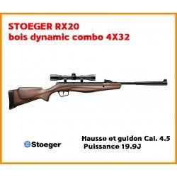 Cara air Stoeger RX20 bois dynamic combo 4X32 hausse et guidon Cal. 4.5 - Puissance 19.9J