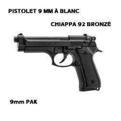CHIAPPA PISTOLET 92 AUTO 9MM BL BRONZE