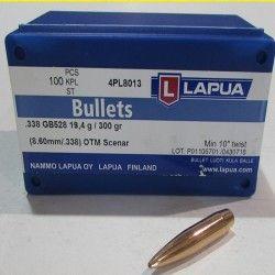 OGIVES LAPUA GB528 CAL 338 SCENAR 300 GRS 4PL8013