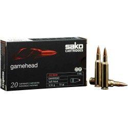 Munitions SAKO Cal. 222 Rem. GAMEHEAD SP 3,2G 50Gr