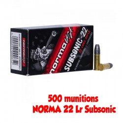 500 NORMA 22 Lr Subsonic (Spécial Silencieux)