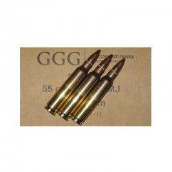 50 munitions GGG FMJ 55 Gr, calibre .223 Rem