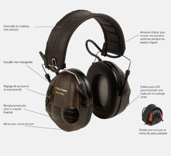 casque peltor pour chasse